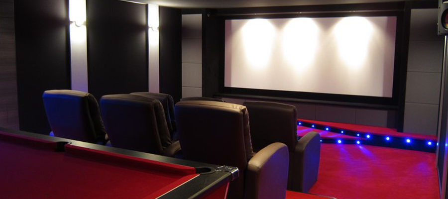 une salle home cinéma