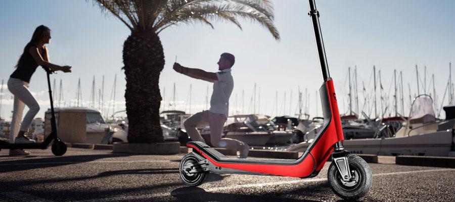 Trottinette électrique, location trottinette électrique, scooter électrique, scooter thermique, caravane, port de plaisance, mobilité verte